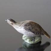Partridge curving its neck, Royal Copenhagen bird figurine