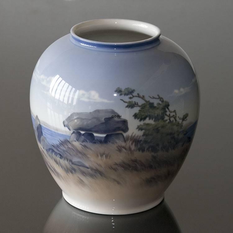 Vase With Scenery Royal Copenhagen No R2316 35 5 Dph