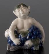 Faun (satyr, Pan) with grapes, Royal Copenhagen figurine