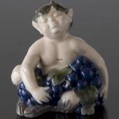 Faun (satyr, Pan) with grapes, Royal Copenhagen figurine No. 2361
