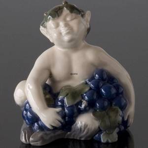 Faun (satyr, Pan) with grapes, Royal Copenhagen figurine No. 2361 | No. R2361 | DPH Trading