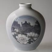 Vase (30cm) with scenery, Royal Copenhagen No. 2371-2535