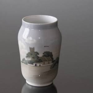 Vase with Landscape with church, Bing & Grondahl No. 2453-108