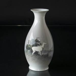 Vase with white hind, Royal Copenhagen