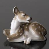 Fawn lying down calling for its mother, Royal Copenhagen figurine No. 2609