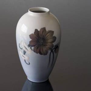 Vase with red Flower Blooming, Royal Copenhagen