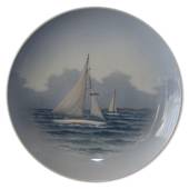 Plate with two sailboats, Royal Copenhagen