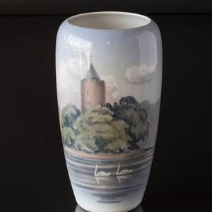 Vase with the goose tower in Vordingborg, Royal Copenhagen | No. R2757-1049 | DPH Trading