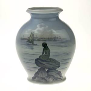 Vase The Little Mermaid at Langelinje in Copenhagen, Royal Copenhagen | No. R2770-3088 | DPH Trading