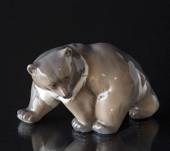 Brown Bear, walking while looking to the side, Royal Copenhagen figurine