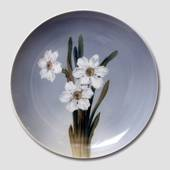 Plate with Flower, White Narcissus, Royal Copenhagen