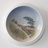 Bowl with Scenery of Old Cottages in Hills, Royal Copenhagen No. 2903-2559