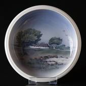 Bowl with scenery, Royal Copenhagen