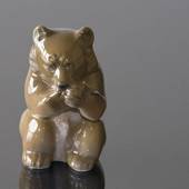 Brown bear, sitting with its paws up, Royal Copenhagen figurine No. 3014