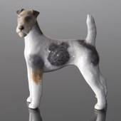 Wirehaired terrier 12cm, Royal Copenhagen dog figurine No. 3165