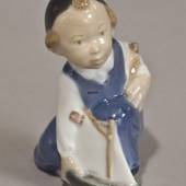 Boy with ship, the future explorer, Royal Copenhagen figurine no. 3272