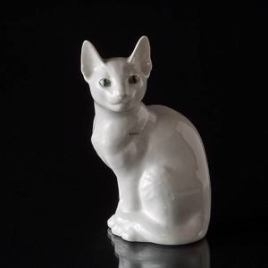 Siamese Cat looking to the side, Royal Copenhagen figurine no. 3281 | No. R3281-H | DPH Trading