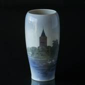 Vase with the Goose tower in Vordingborg, Royal Copenhagen No. 3367