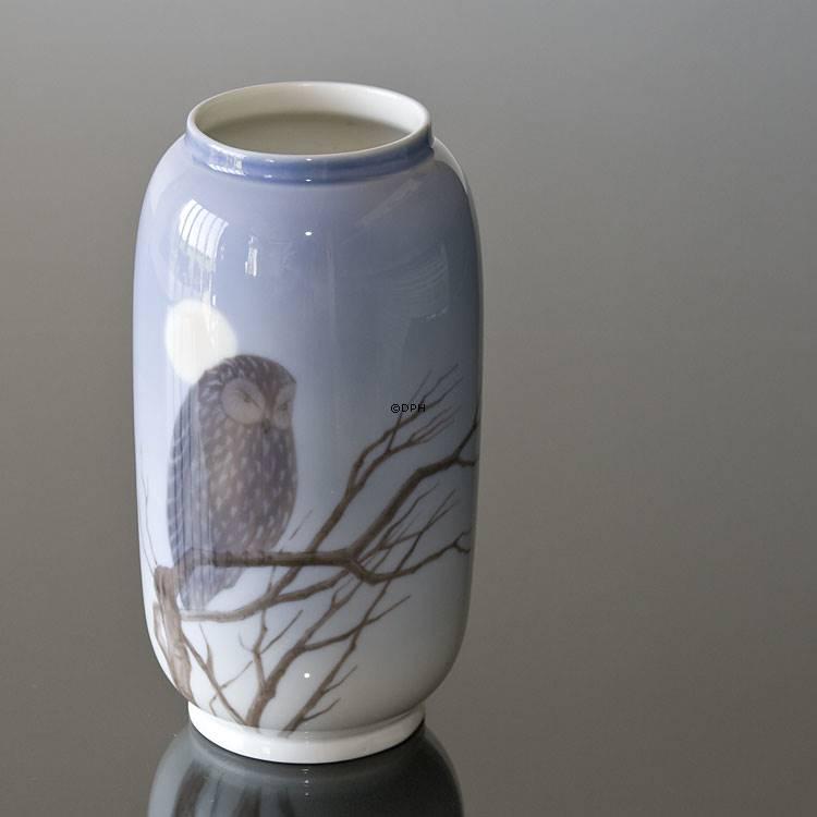 Vase With Owl Royal Copenhagen No R347 107 Dph Trading