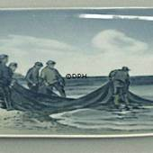 Bowl with fishermen, Royal Copenhagen