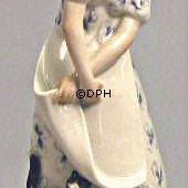 Lady with Cat, Royal Copenhagen overglaze figurine
