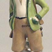 Hunter with Dog, Royal Copenhagen overglaze figurine
