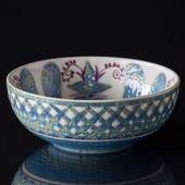 Faience bowl signed MJ, Royal Copenhagen No. 416-1619