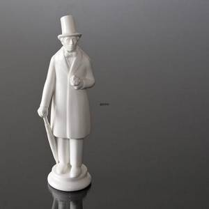 Hans Christian Andersen standing with Bouquet, white Royal Copenhagen figurine | No. R4216 | DPH Trading