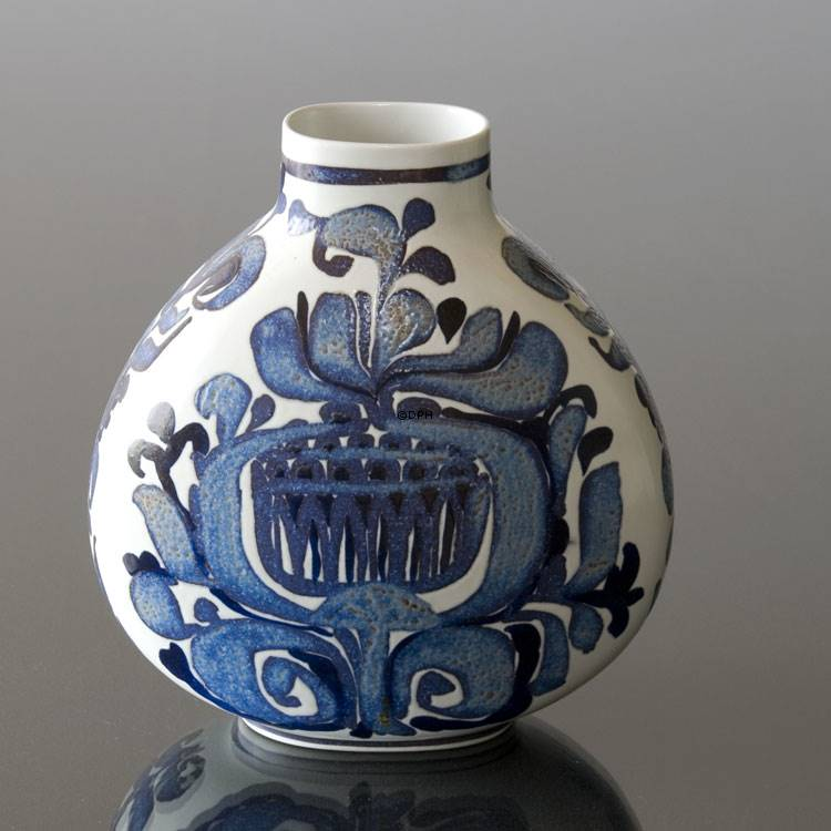 Faience Vase Signed Ck Royal Copenhagen No R427 3114 F Dph