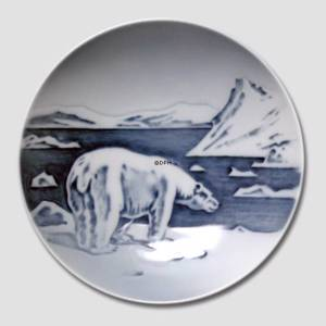 Bowl with Greenlandic Polar Bear Motif, Royal Copenhagen