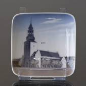 Bowl with Budolfi church in Aalborg, Royal Copenhagen