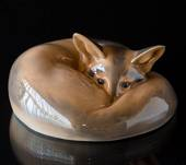 Fox, curled, Royal Copenhagen figurine