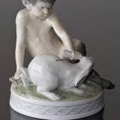 Faun with rabbit, Royal Copenhagen figurine No. 439