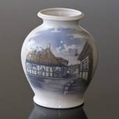 Vase with The House of Hans Christian Andersen, Odense, Royal Copenhagen no...