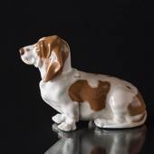 Basset Hound, Royal Copenhagen dog figurine