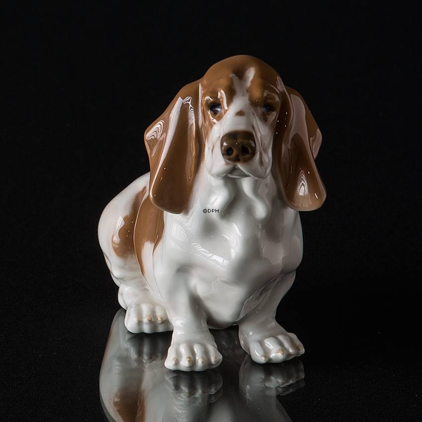 Basset Hound, Royal Copenhagen dog figurine | No. r4616 ...