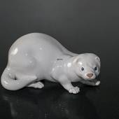 Mink, white, Royal Copenhagen figurine