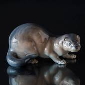 Mink, brown, Royal Copenhagen figurine