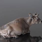 Jersey Cow lying down, Royal Copenhagen figurine