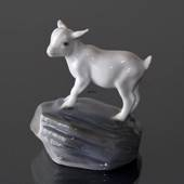 Goat Kid Standing Sweetly on Rock, Royal Copenhagen figurine No. 4760