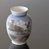 Vase with Hans Christian Andersen's house, Royal Copenhagen No. 4764