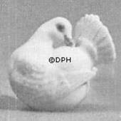 White pigeon, Royal Copenhagen bird figurine