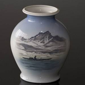 Vase with landscape from Greenland, Royal Copenhagen