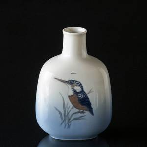 Vase with Kingfisher, Royal Copenhagen No. 5104 | No. R5104 | DPH Trading