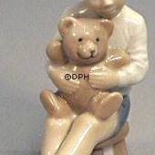 Boy with Teddy, Royal Copenhagen figurine