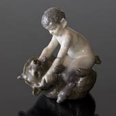 Faun on Bear, Royal Copenhagen figurine