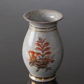 Craquele vase with flower decoration, Royal Copenhagen