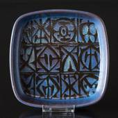 Faience dish in blue by Nils Thorssen, Royal Copenhagen