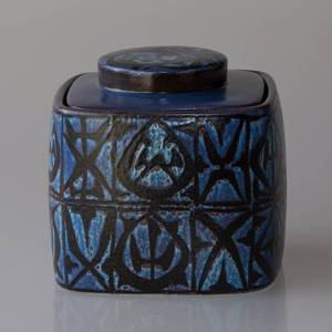Faience jar designed by Nils Thorssen, Royal Copenhagen No. 704-3211 | No. R704-3211-F | DPH Trading