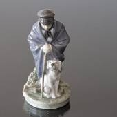 Shepherd boy with Dog, friendship, Royal Copenhagen figurine
